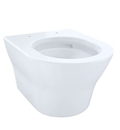 TOTO CT437FG#01 MH Wall-Hung One-Piece D-Shape Toilet, Universal Height and 1.28 GPF & 0.9 GPF Dual Flush