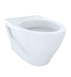 TOTO CWT418MFG#01 Aquia Wall-Hung One-Piece Elongated Toilet, Universal Height with 1.6 GPF & 0.9 GPF Dual Flush