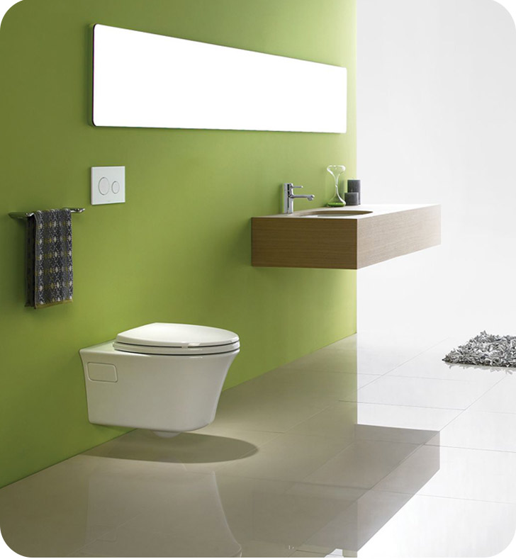 Toto CWT486MFG-2#01 Maris Cotton Two Piece Elongated Wall Mounted Toilet and Push Plate Combo with Copper Supply Line
