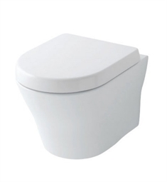 TOTO CWT437117MFG#01 MH Wall-Hung One-Piece D-Shape Toilet, Universal Height with 1.28 GPF & 0.9 GPF Dual Flush