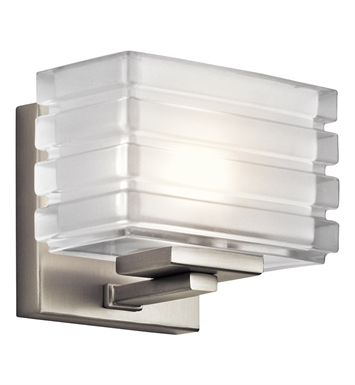 Kichler 45477NI Bazley Collection Wall Sconce 1 Light Halogen in Brushed Nickel