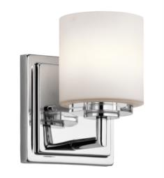 "Kichler 45500CH O Hara 1 Light 5"" Halogen Wall Sconce in Chrome"