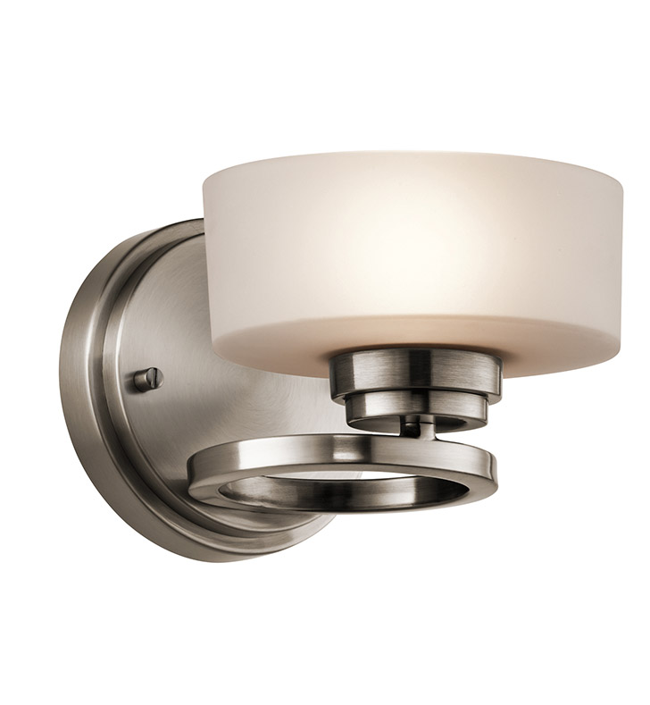 Kichler 45564CLP Aleeka Collection Wall Sconce 1 Light Halogen in Classic Pewter