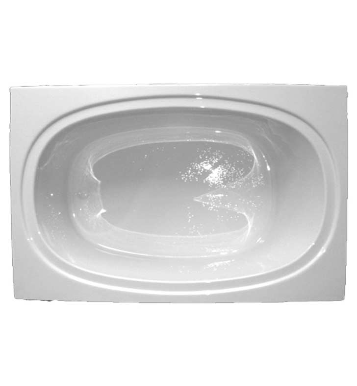 "American Acrylic BR-61W 42""x60"" Oval Bathtub With Jet Mode: Whirlpool (8 jets)"