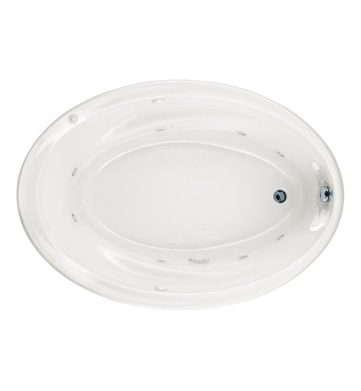 American Standard 2903018WC Savona 60 Inch by 42 Inch Oval Customizable Bathtub
