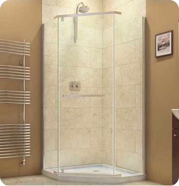 "DreamLine SHEN-2134340-04 Prism Frameless Pivot Shower Enclosure With Finish: Brushed Nickel And Dimensions: D 34 1/8"" x W 34 1/8"" x H 72"""
