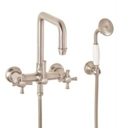 "California Faucets 1406.20 Hermosa 10 1/8"" Traditional Double Handle Wall Mount Tub Filler with Handshower"
