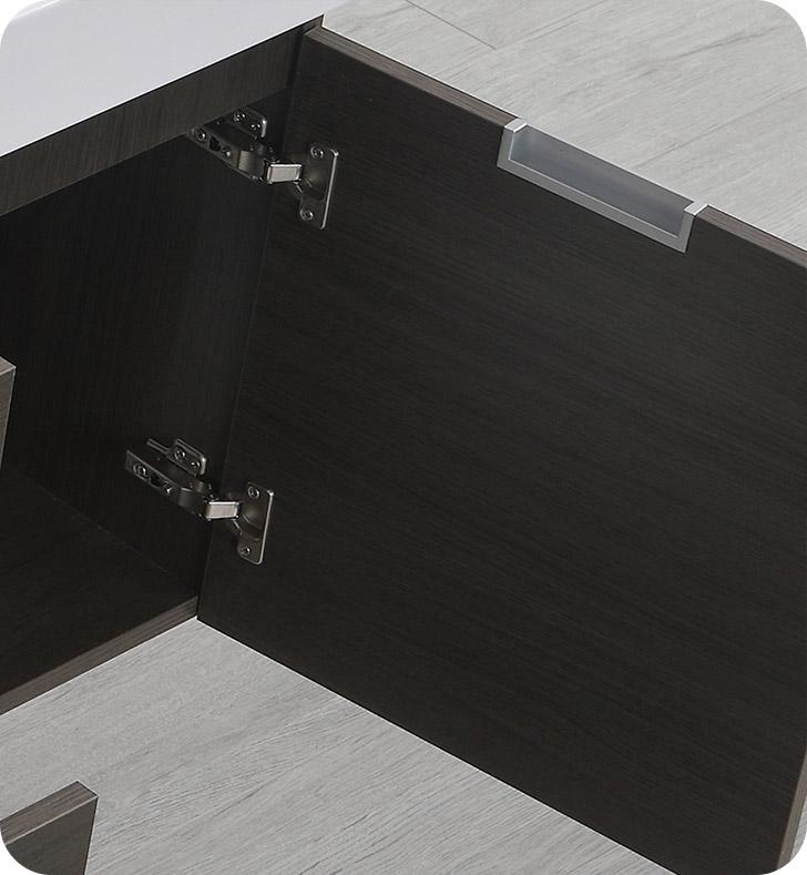 "Fresca Valencia 60"" Gray Oak Wall Hung Bathroom Vanity"