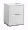 "Fresca FCB8424WH Valencia 24"" Glossy White Free Standing Modern Bathroom Cabinet"