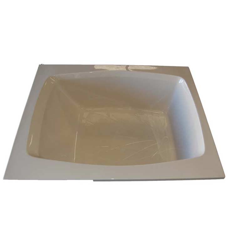 "American Acrylic BR-35C 48""x60"" Rectangular Bathtub With Jet Mode: Combo (Whirlpool & Air Jets)"