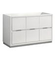 "Fresca FCB8448WH Valencia 48"" Glossy White Free Standing Single Sink Modern Bathroom Cabinet"