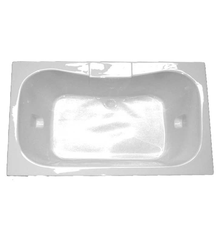 "American Acrylic BR-47W 41 1/2"" x 59 1/2"" Rectangular Bathtub With Jet Mode: Whirlpool (8 jets)"