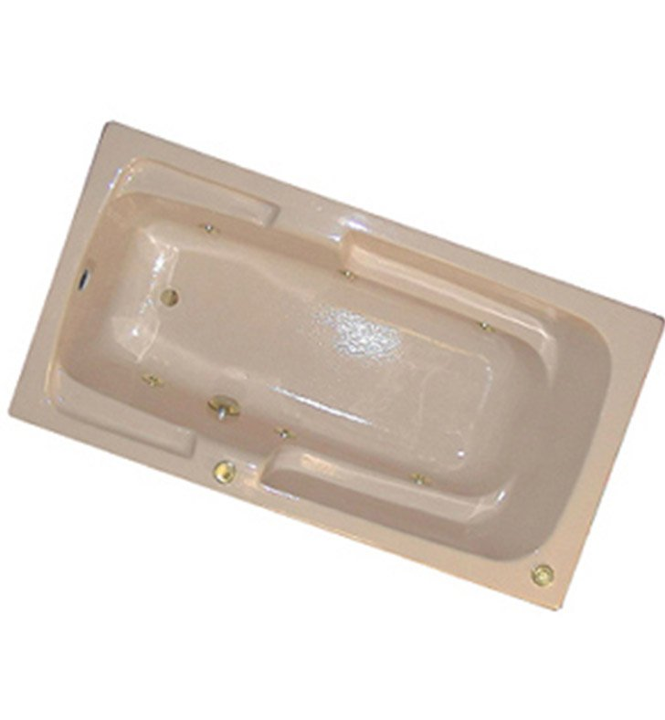 "American Acrylic BRA-31C 30""x60"" Bathtub with Armrest With Jet Mode: Combo (Whirlpool & Air Jets)"