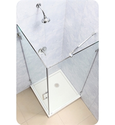 DreamLine SHEN-2330300 Unidoor Lux 30-3/8 in. W x 30 in. D x 72 in. H Hinged Shower Enclosure