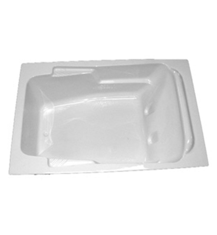 "American Acrylic BRA-52C 48""x72"" Bathtub with Armrest With Jet Mode: Combo (Whirlpool & Air Jets)"