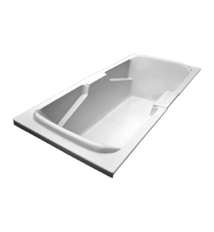 American Acrylic BRA-56W Bathtub with Integrated Armrest With Jet Mode: Whirlpool (8 jets)