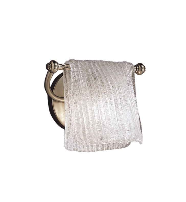 Kichler 6311NI Drapes Collection Wall Sconce 1 Light in Brushed Nickel