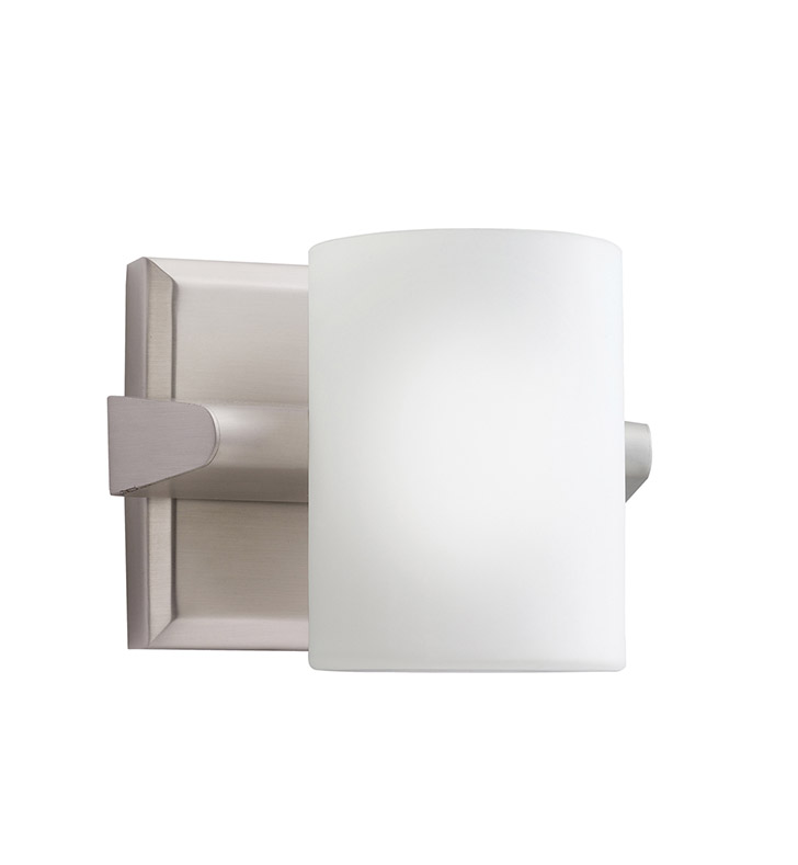 Kichler 5965NI Tubes Collection Wall Sconce 1 Light Halogen in Brushed Nickel