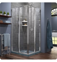 "DreamLine SHEN-810-01 Cornerview W 34 1/2"" to 40 1/2"" Framed Sliding Shower Enclosure in Chrome"