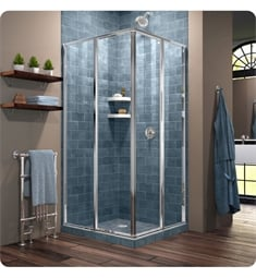 "DreamLine SHEN-810 Cornerview W 34 1/2"" to 40 1/2"" Framed Sliding Shower Enclosure in Chrome"
