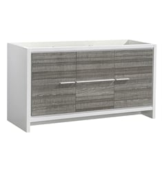 "Fresca FCB8119HA Allier Rio 60"" Ash Gray Double Sink Modern Bathroom Cabinet"