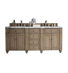 "James Martin 157-V72-WW Bristol 72"" Double Bathroom Vanity in White Washed ..."