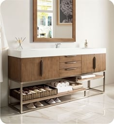 "James Martin 388-V72S-LTO Columbia 72"" Single Bathroom Vanity in Latte Oak"