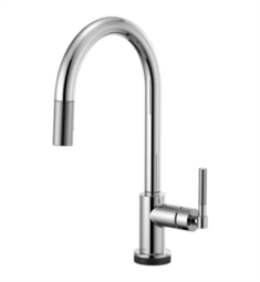 Brizo 64043LF Litze Smarttouch Pull-Down Kitchen Faucet with Arc Spout and Knurled Handle