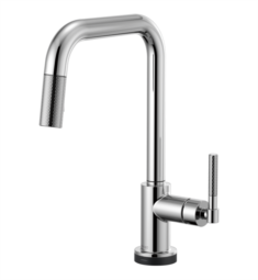 Brizo 64053LF Litze Smarttouch Pull-Down Kitchen Faucet with Square Spout and Knurled Handle