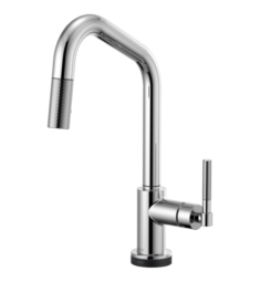 Brizo 64063LF Brizo Litze Smarttouch Pull-Down Kitchen Faucet with Angled Spout and Knurled Handle