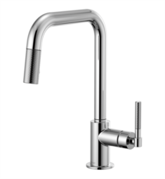Brizo 63053LF Litze Pull-Down Kitchen Faucet with Square Spout and Knurled Handle