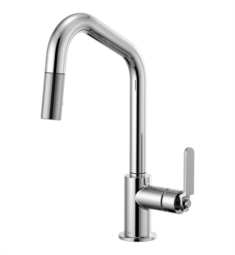 Brizo 63064LF Litze Pull-Down Kitchen Faucet with Angled Spout and Industrial Handle