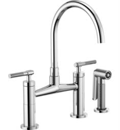 Brizo 62543LF Litze Bridge Kitchen Faucet with Arc Spout and Knurled Handle