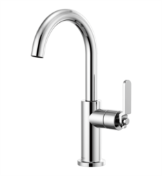 Brizo 61044LF Litze Bar Faucet with Arc Spout and Industrial Handle