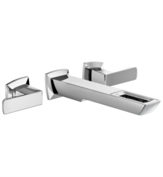 Brizo T65886LF-ECO Vettis Two Handle Wall Mount Bathroom Sink Faucet with Open-Flow Spout