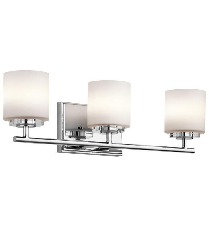 "Kichler 45502CH O Hara 3 Light 22"" Halogen Wall Mount Bath Light in Chrome"