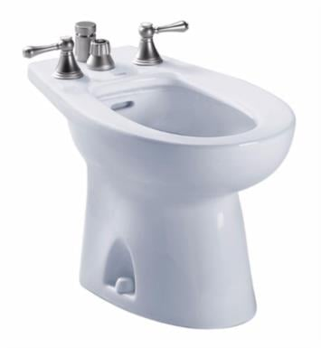 "TOTO BT500B Piedmont 24 7/8"" Elongated Bidet with Flushing Rim and Vertical Spray for Deck Mounted Faucet"
