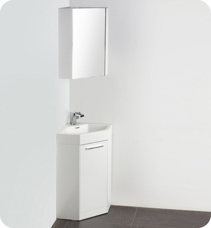 modern white bathroom cabinets. fresca fvn5084wh coda 18\ modern white bathroom cabinets