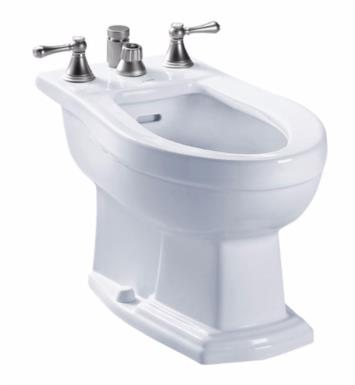 "TOTO BT784B Clayton 25 1/2"" Elongated Bidet with Vertical Spray for Deck Mounted Faucet"