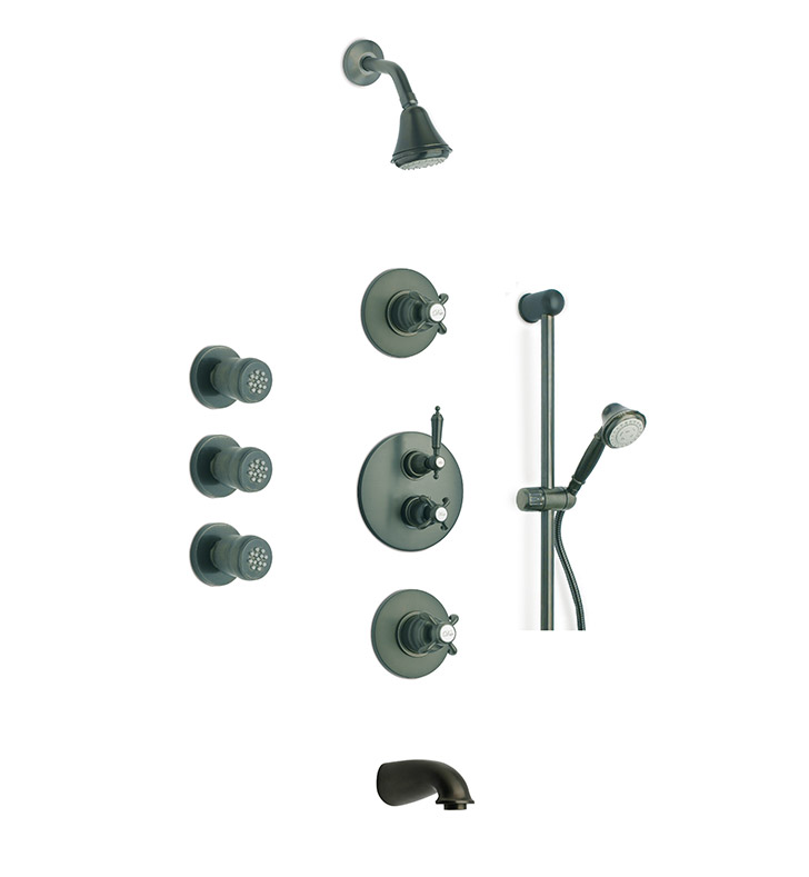 LaToscana OR-OPTION8TU Ornellaia Shower System 8 in Bronze