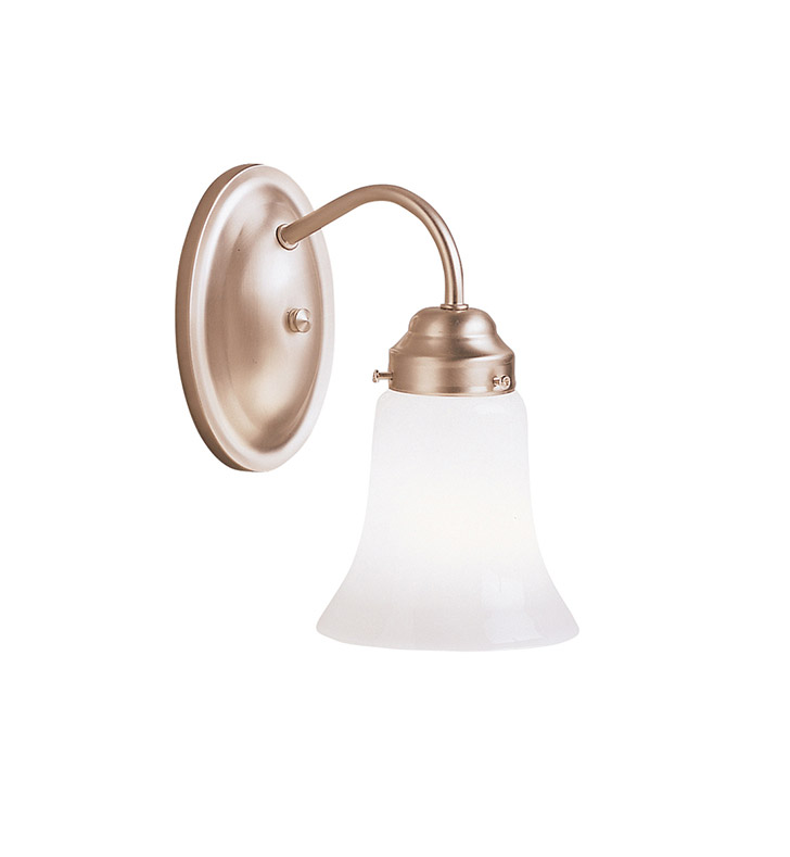 Kichler 6121NI Wall Sconce 1 Light in Brushed Nickel