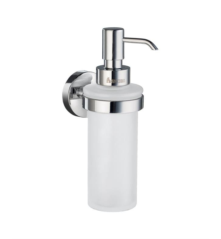 "Smedbo HS369 Home 1 7/8"" Wall Mount Soap Dispenser With Finish: Brushed Chrome"