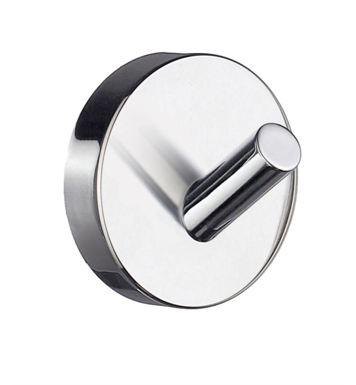 "Smedbo HS355 Home 1 7/8"" Wall Mount Single Towel Hook With Finish: Brushed Chrome"