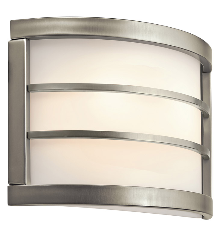 Kichler 10453NI Wall Sconce 2 Light Fluorescent in Brushed Nickel