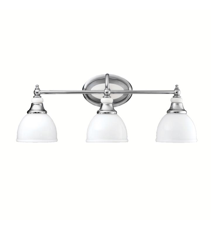 "Kichler 5369CH Pocelona 3 Light 24"" Incandescent Wall Mount Bath Light in Chrome"