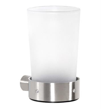 "Cool Lines CSM105 Crystal Steel 2 3/4"" Wall Mount Tumbler/Holder With Finish: Satin Stainless Steel"