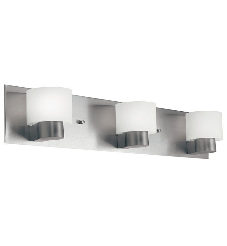 Kichler 10403NI Adao Collection Bath 3 Light Fluorescent in Brushed Nickel