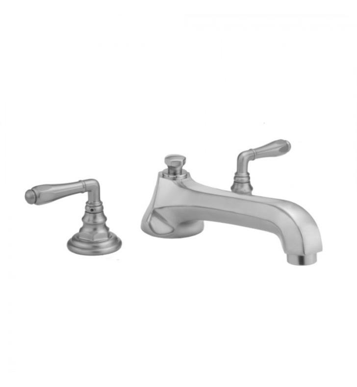 "Jaclo 6970-T674-TRIM-SN Westfield 8"" Three Hole Deck Mounted Roman Tub Faucet With Finish: Satin Nickel And Handles: Ball Cross Handles"