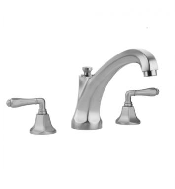 "Jaclo 6972-T686-TRIM-MBK Astor 9 1/4"" Three Hole Deck Mounted Roman Tub Faucet With Finish: Matte Black And Handles: Hex Cross Handles"