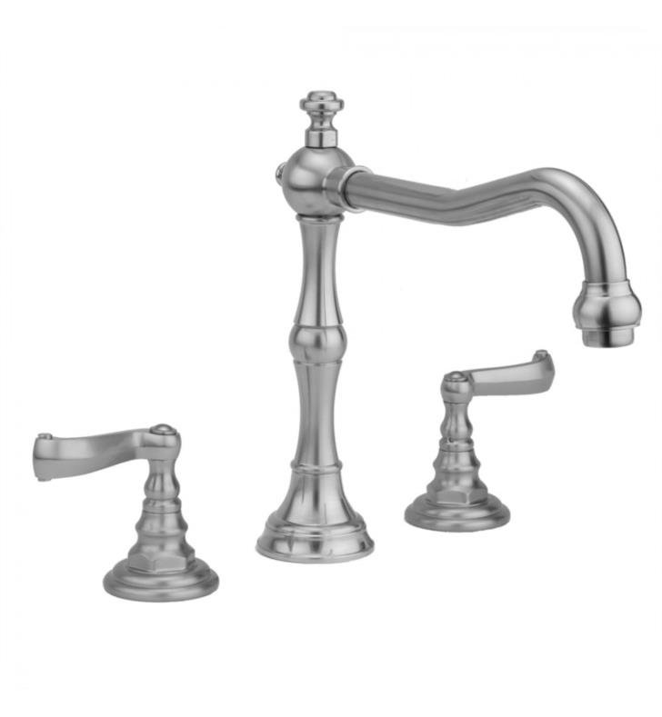 "Jaclo 9930-T675-TRIM-SC Roaring 20's 9"" Three Hole Deck Mounted Roman Tub Faucet With Finish: Satin Chrome And Handles: Hex Lever Handles"